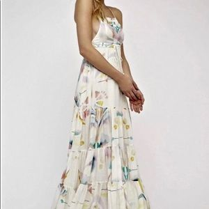 Free People Watercolor Overall Maxi Dress 0